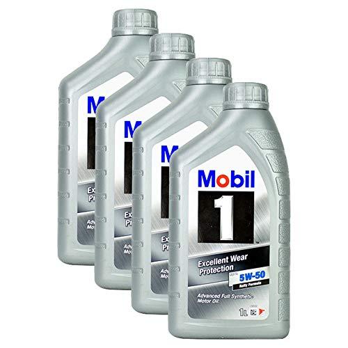 4 X olio motore Mobil 1 Fs X1 5 W 50 1 L olio motore ad alte prestazioni olio di base eccellente protezione contro l' usura High Performance Motor Oil maggiore potenza di corsa.