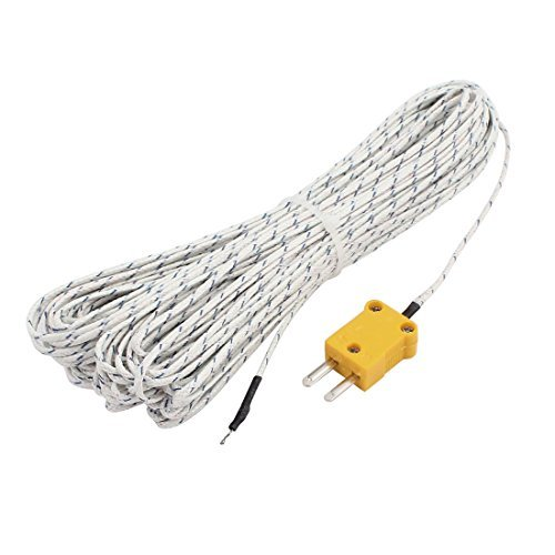 Tipo DealMux K -30C a + 400C Sonda de medição Termopar do fio do sensor 20 Metros