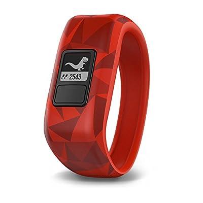 Garmin vívofit jr, Kids Fitness/Activity Tracker, 1year Battery Life, Red, Broken Lava from Garmin