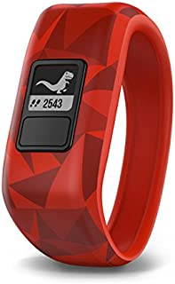 Garmin vívofit jr, Kids Fitness/Activity Tracker, 1year Battery Life, Red, Broken Lava