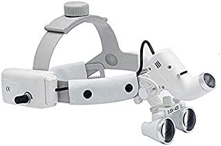 Aries Outlets Dental LED Surgical 5W Headlight 3.5X Leather Headband Loupe Light DY-106 White