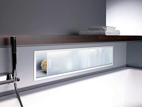 emco asis LED UP Ablage-Modul 1000mm Chrom