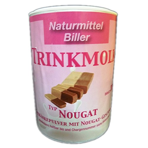 Molke Biller Trinkmolke Nougat Doppelpack Molkepulver Molkegetränk Molkeneiweiß Geschmack Nougat 2x 200g Dose