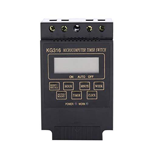 Interruptor de tiempo digital manual/automático de 10 encendido y 10 apagado, temporizador de ciclo semanal diario programable automático para controlar(AC220V)