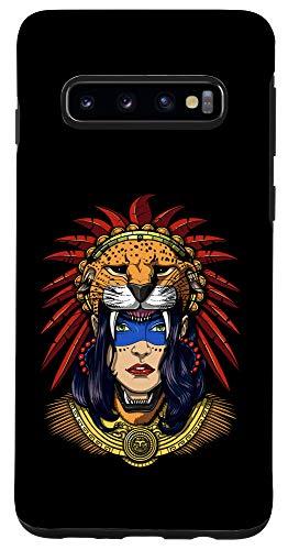 Galaxy S10 Aztec Jaguar Warrior Native Mexican Mayan Princess Mythology Case