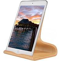 SAMDI Soporte de Madera para iPad, Universal Madera Tablet PC Soporte de teléfono Soporte para Apple iPad Mini Air 2 3 4 iPhone 6 Samsung 10.1 Galaxy S5 S4 Lenovo LG Google Nexus Pad