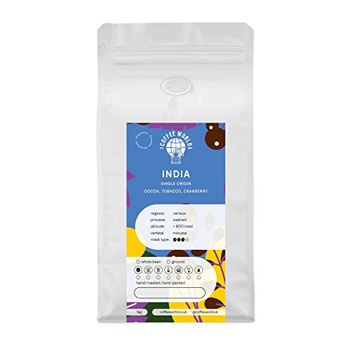 India Robusta Cherry AA 1KG - Single Origin Kaffeebohnen - Coffee World