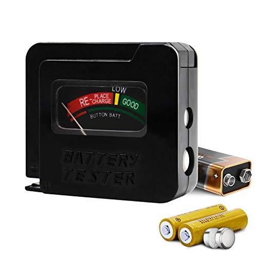 Toolman QTH030 Batterietester für AA AAA C D 9V 1,5V Knopfzellenbatterien