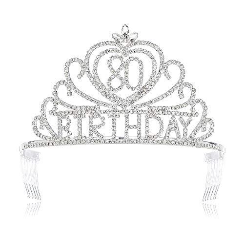 80th Birthday Rhinestone Tiara