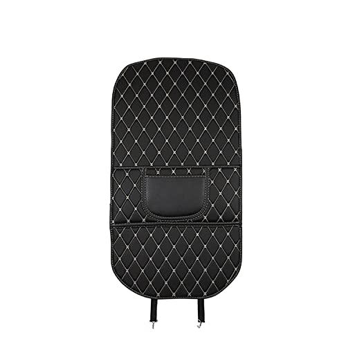 BAWAQAF Almohadilla de piel sintética antiniños para coche, impermeable, para asiento trasero, universal, con bolsa de almacenamiento