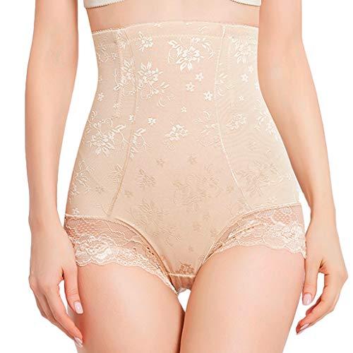 Frauen Shapewear Korsett Unterhemden & BH-Hemden Shorts Hohe Taille Höschen Body Shaper Unterwäsche(Khaki,M)
