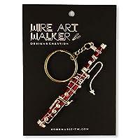 【SomeMusicDesign】楽器ワイヤーストラップ - ファゴット 音楽雑貨 クラシック音楽 Music Gift Some Music Design