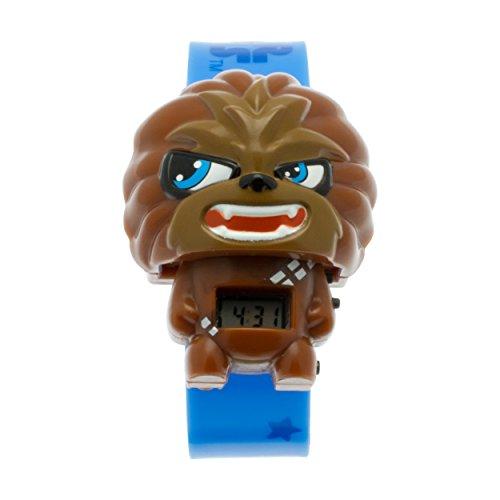BulbBotz Star Wars 2021111 Chewbacca Kinder-Armbanduhr mit Hintergrundbeleuchtung und Alarmfunktion, braun/schwarz , Kunststoff , digitale , LCD-Display , Junge/ Mädchen , offiziell