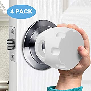 Door Knob Safety Cover, Child Proof Door Knob Covers, Baby Safety Doorknob Handle Cover Lockable Design. (4Pack)