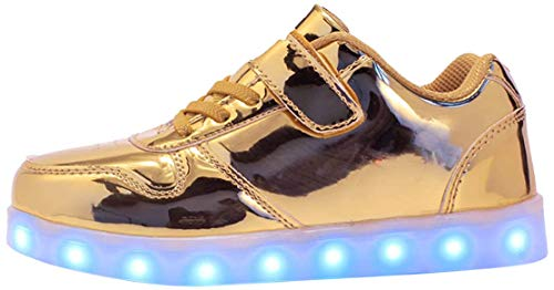 7 Farben LED Schuhe USB Aufladen Leuchtschuhe Licht Blinkschuhe Leuchtende Sport Sneaker Light up Turnschuhe Damen Herren Kinder Shoes