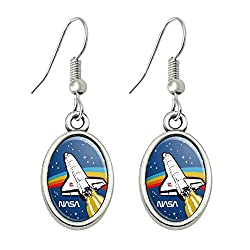 NASA space shuttle earrings jewelry for space travelers