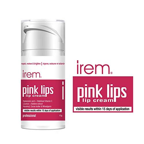Irem Pink Lips - Lip cream Repair restore and brighten lips. With Vitamin C, Hyaluronic and Licorice 15g