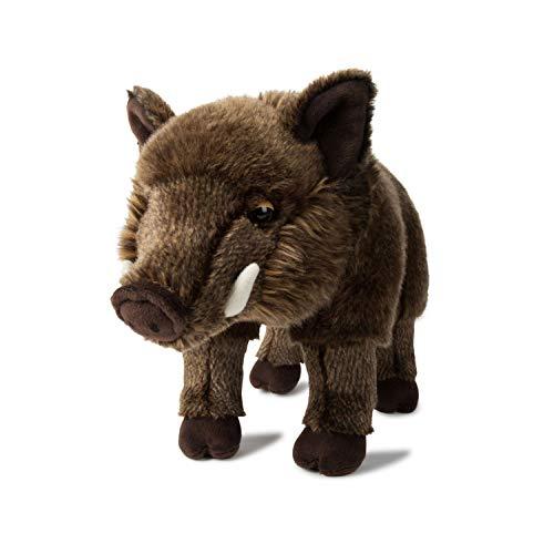 WWF- Peluche de jabalí, Realista, Aprox. 31 cm de Alto y maravillosamente Suave. (WWF00832)