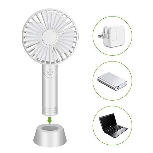 SCOBUTY Ventilador de mano, USB, mini ventilador de mesa, portátil con difusor de aromas extraíble, 3 velocidades, para oficina, hogar y al aire libre