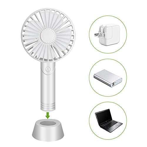 Handheld Ventilator,USB-Lüfter,Mini Tischventilatoren,Tragbarer Mini Fan Mit Abnehmbarem Aromadiffusor 3 Geschwindigkeiten Lüfter Mit Base,für Büro, Zuhause und Im Freien