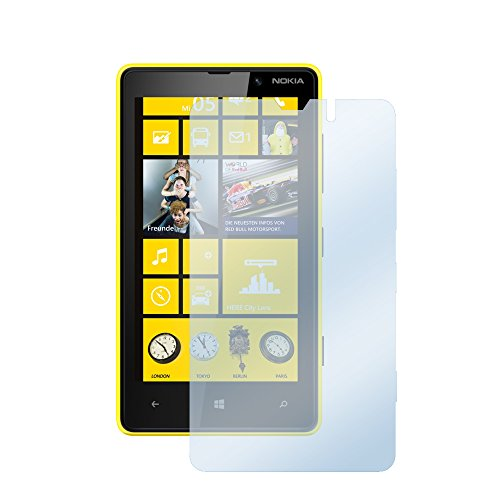 el teléfono Nokia Lumia 820 Protector de Pantalla 1x BORRAR Borrar