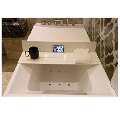 GAXQFEI Badewannenabdeckung Anti-Staub-Falten-Staubbrett Badewannen-Isolationsabdeckung Pvc-Weiß,115 * 75 * 0,7 cm