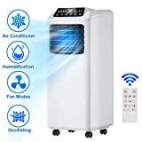 Toolsempire 8000BTU Portable Air Conditioner Easycool 3-in-1 Floor AC Unit with Dehumidifier,Fan Modes,Remote Control,Quiet AC Unit Cools Rooms to 230 sq.ft LED Display, Remote Control, Complete Window Mount Exhaust Kit (30inch)