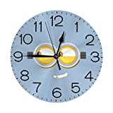 ノーティーミニオンアイズ 壁掛け時計 おしゃれ デジタル ミュート 円形 掛け時計 置き時計 目覚まし時計 インテリア 装飾