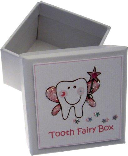 White Cotton Cards filles dent Boîte à dents (Rose)