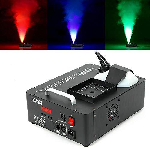Anciun - Máquina de humo de 1500 W DMX, luz de escenario, LED RGB, niebla, efecto de luz, con mando a distancia