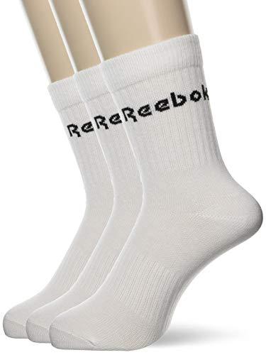 Reebok Unisex - Erwachsene Socken Act Core Mid Crew Sock 3p XL weiß