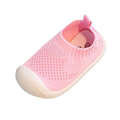Zapatos de Niños pequeños para bebés,Riou Chicos y Chicas de Color Caramelo Que vuelan Tejido Deportivo de Tela elástica Zapatos Casuales Correr Malla Antideslizante