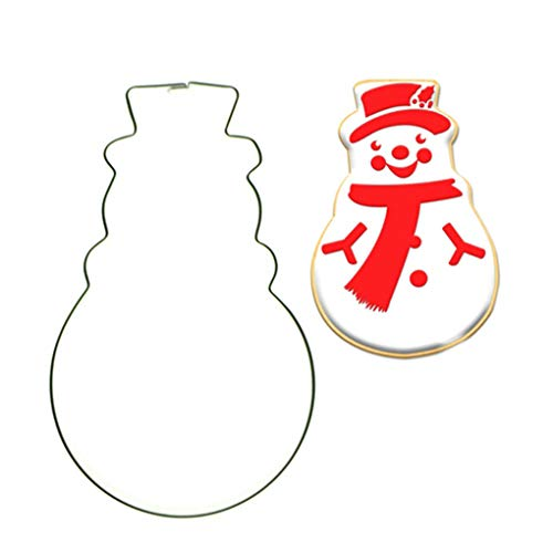 PRENKIN Weihnachtsschneemann-Form-Edelstahl-Kuchen-Fondant Schneider Biscuit Backform