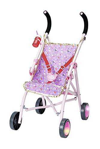 BABY born Happy Birthday - Carrito Deluxe, Tema espacial, Para manos pequeñas, Promueve la empatía y las habilidades sociales, Para niños a partir de 3 años, Incluye vaso con clip