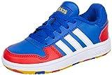 adidas Hoops 2.0 K, Zapatillas de Baloncesto, AZUREA/FTWBLA/Rojint, 38 2/3 EU