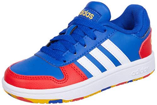 adidas Hoops 2.0 K Basketballschuhe, AZUREA/FTWBLA/ROJINT, 36 EU