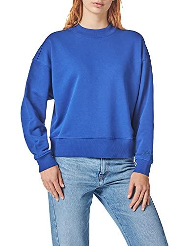 Scotch & Soda Sweatshirt aus Bio-baumwollmischung mit Rundhalsausschnitt Sudadera, 2139 Yinmin Blue, XL para Mujer