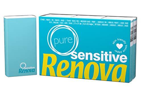 Renova Taschentücher Sensitive Pure - 6 Packungen weiße Taschentücher