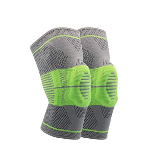 ZMXZMQ kniebeugel compressiehoes met zijstabilisatoren Silicone Patella Gel Pads, voor meniscus scheuren, artritis, gewrichtspijn verlichting, letsel herstel, training, sport, een paar