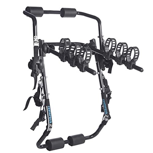 LZL High-Carbon Steel Deluxe Black 3-Bike Trunk Mount Bicycle Carrier Rack. (Compatible with Most Sedans/Hatchbacks/Minivans and SUVs.)