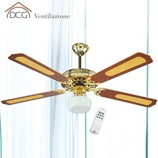 DCG Eltronic Ventilador de techo de 4 palas con mando a distancia