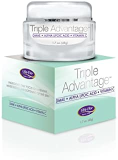 LIFE-FLO Triple Advantage w/DMAE, Alpha Lipoic Acid & Vit C, Cream, Cucumber (Carton) | 1.7oz