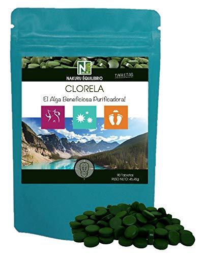 Clorela / 90 comprimidos de 505mg / NAKURU Equilibrio/