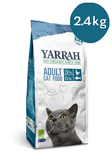 Yarrah Bio-Katzenfutter Adult Fisch - 2.4 kg - Für alle Katzenrassen geeignet - Ohne künstliche Zusatzstoffe, Pestizide und GVO - Mit MSC-Hering, Bio-Huhn, Erbsen und Nesseln