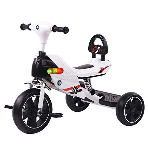 ZJZ Triciclo para niños, Coche de Pedales de Triciclo para niños para niñas de 1 a 6 años con Pedales Antideslizantes Cochecitos para Scooter