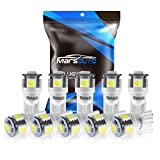 95 chevy 1500 body lift - Marsauto 194 LED Light Bulb 6000K 168 T10 2825 5SMD LED Replacement Bulbs for Car Dome Map Door Courtesy License Plate Lights (Pack of 10)