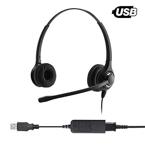 Project Telecom Cranium Cafe Professional Binaural Noise Cancelling Usb Headset
