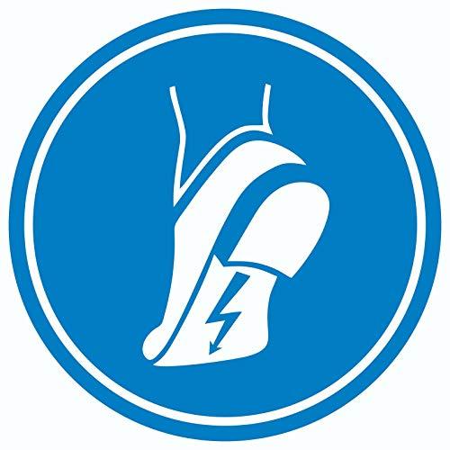 ESD Schuhe tragen Aufkleber Kreis Fußschutz gegen elektrostatische Aufladung Ø600mm