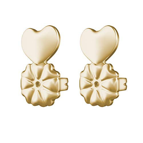 Magic Bax Earring Lifters - 2 Pairs of Adjustable Hypoallergenic Earring Lifts (2 Pairs of 18K Gold Plated Earring Backs) As Seen on TV