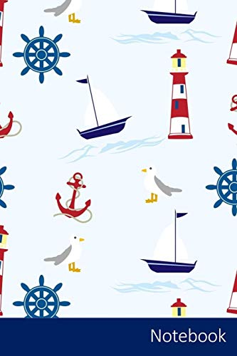 Notebook: Nautical, Wallpaper, Background, Paper Notebook / Journal / Diary / Composition book - 6 x 9 inches (15,24 x 22,86 cm), 150 pages, glossy finish.